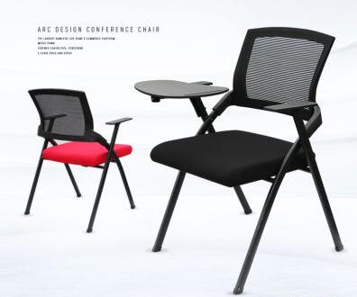 辦公椅折疊椅帶寫字板培訓椅