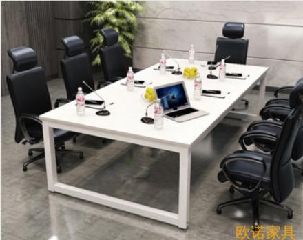 现代简约口字钢架板式会议桌/培训桌