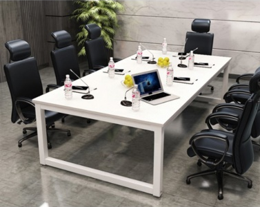 現代簡約口字鋼架板式會議桌/培訓桌