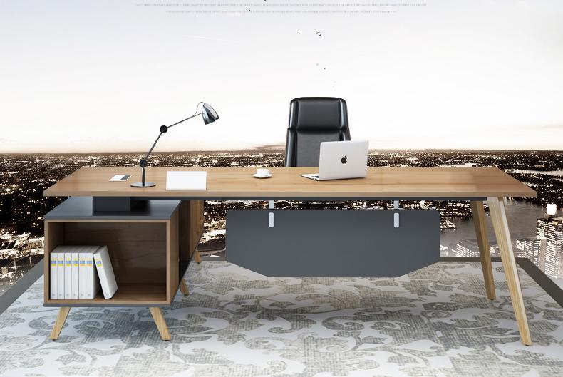 简约现代实木办公桌