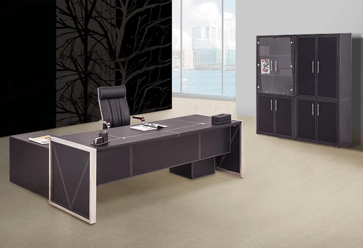 时尚皮质办公家具办公桌老板