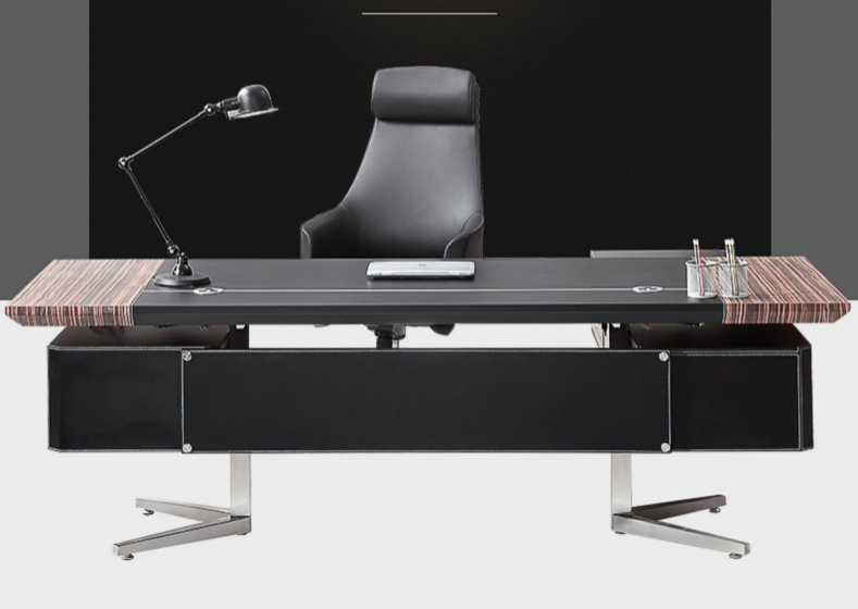 皮质组合总裁桌椅