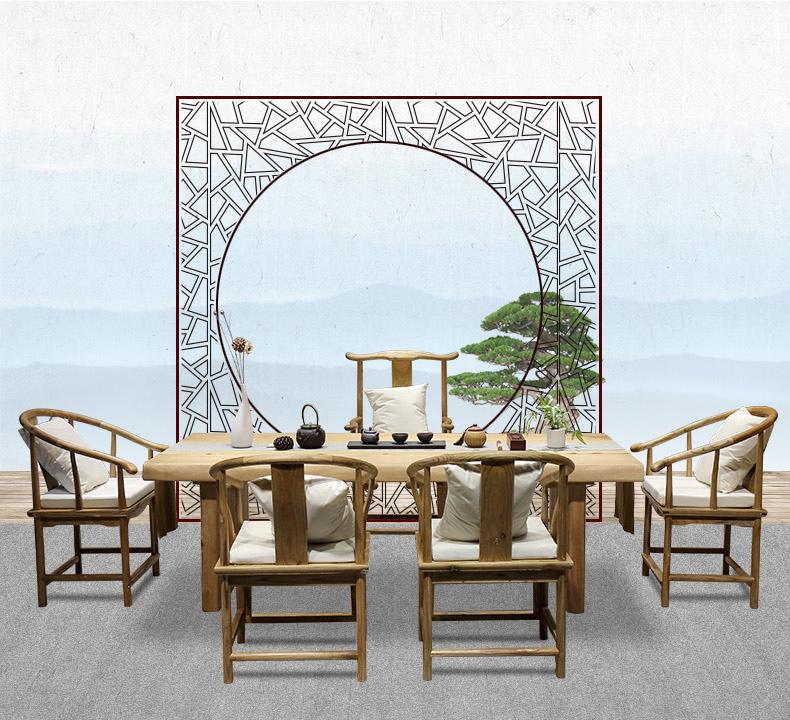 實木茶幾 茶桌椅組合